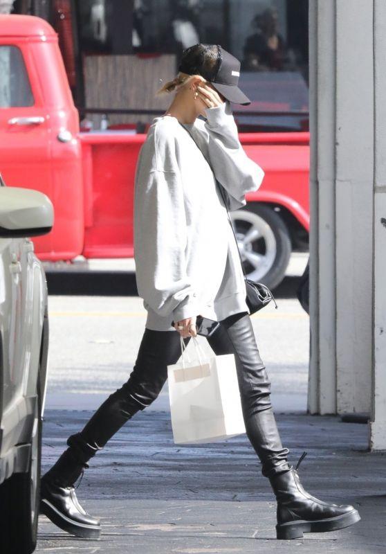 Hailey Rhode Bieber Street Style - Leaves a Spa in LA 02/18/2020