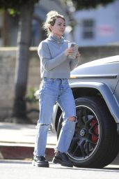 Hilary Duff in Jeans - Out in LA 02/27/2020