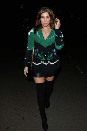 Imogen Thomas Night Out Style - Outside Novikov in London 02/01/2020