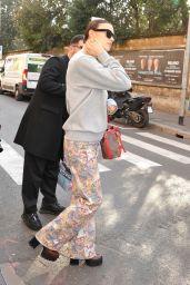 Irina Shayk in Casual Outfit - Milan Fashion Week 02/21/2020