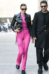 Irina Shayk is Stylish - Arriving at Versace Fashion Show in Milan 02/21/2020