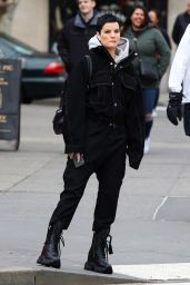 Jaimie Alexander Street Style - New York City 02/16/2020