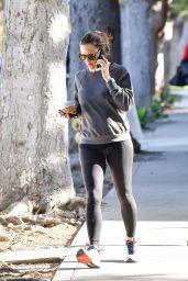 Jennifer Garner in Spandex - Out for a Walk in Brentwood 02/28/2020