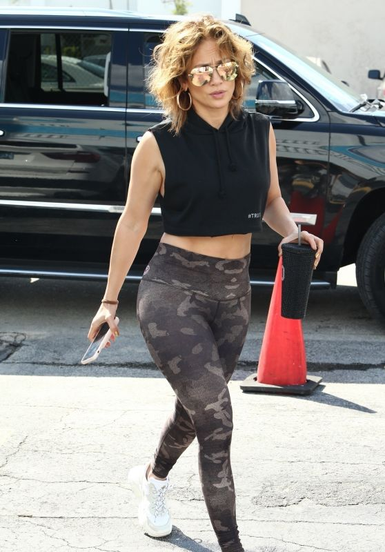 Jennifer Lopez in Gym Ready Outfit - Miami 02/26/2020