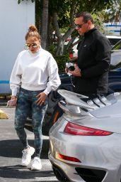 Jennifer Lopez in Spandex in Miami 02/27/2020
