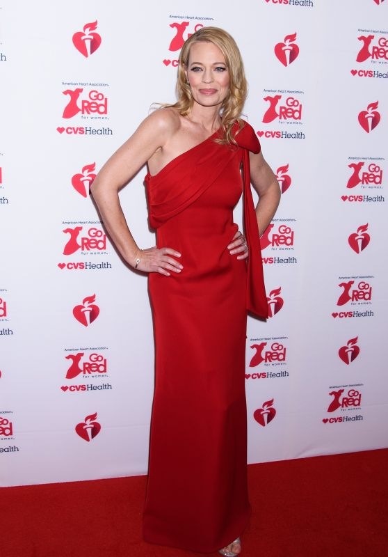 Jeri Ryan – Go Red For Women Red Dress Collection 2020 in NYC