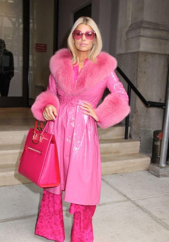 Jessica Simpson in Pink Ensemble - New York City 02/04/2020