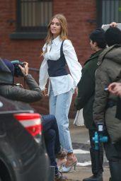 Josephine Skriver - Photoshoot in NYC 02/11/2020
