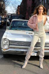 Josephine Skriver - Photoshoot in NYC 02/12/2020
