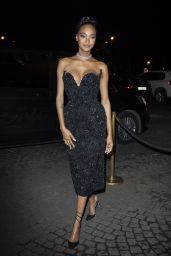 Jourdan Dunn – Arrives at the CR Fashion Book X Redemption Party in Paris 02/28/2020