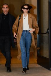 Kaia Gerber in Travel Outfit - Milan Airport 02/23/2020