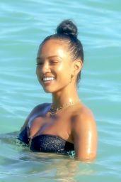 Karrueche Tran in a Bikini on the Beach in Miami 02/03/2020