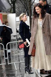 Katie Holmes - Chloe Fashion Show at Paris Fashion Week 02/27/2020
