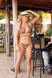 Katie McGlynn in Leopard Print Bikini in Mexico 02/20/2020