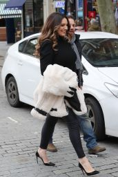 Kelly Brook Booty in Tights - Leaving Heart Radio in London 02/21/2020