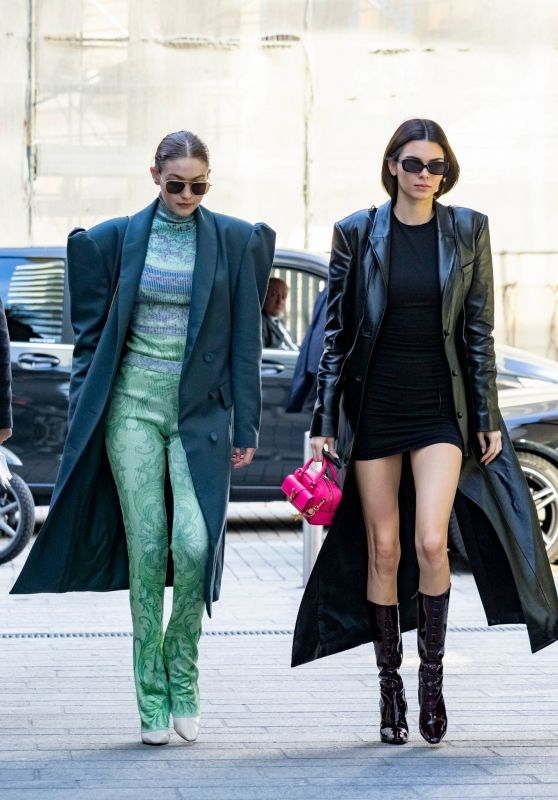 Kendall Jenner and Gigi Hadid - Out in Milan 02/21/2020