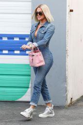 Khloé Kardashian in Jumpsuit - Leaves a Studio in Woodland Hills 02/27/2020