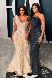 Kylie Jenner and Kim Kardashian – Vanity Fair Oscar Party 2020