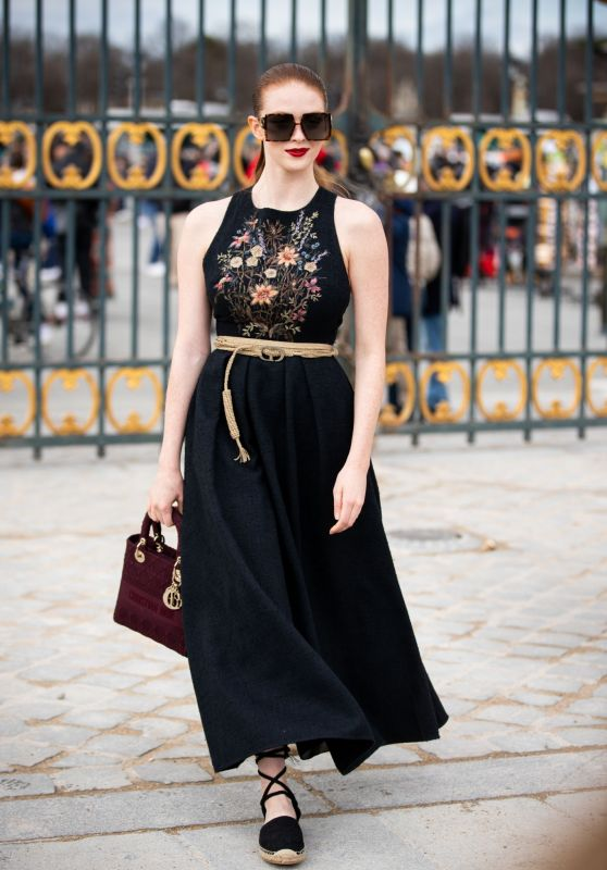 Larsen Thompson - Arrives for Dior Show at Paris Fashion Week 02/25/2020