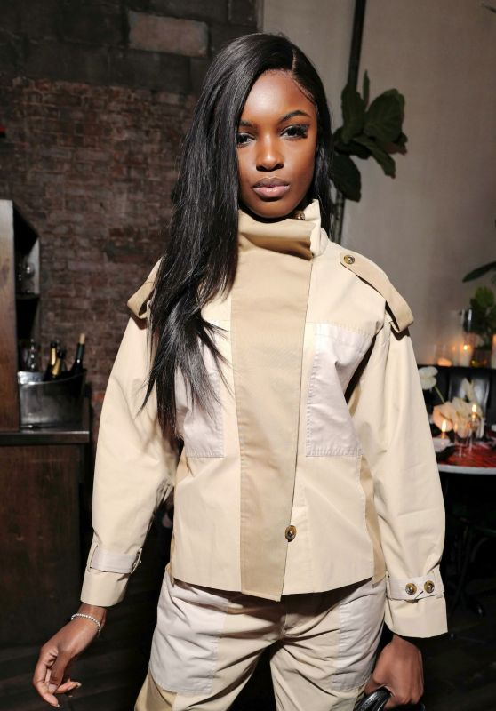 Leomie Anderson – Frame x Imaan Dinner Fall Winter 2020 at NYFW