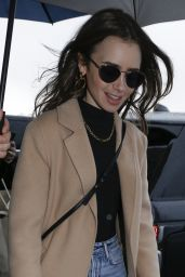 Lily Collins - Leaving Her Hotel in Paris 02/26/2020
