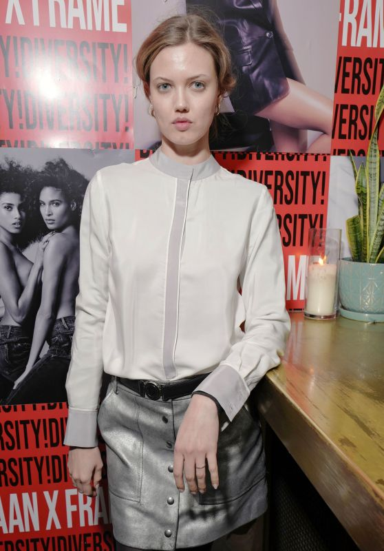 Lindsey Wixson – Frame x Imaan Dinner Fall Winter 2020 at NYFW