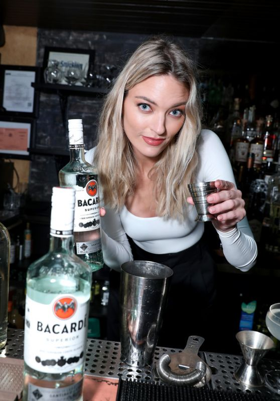 Martha Hunt - Bacardi Employees Go Back To The Bar To Spark Conversations in NYC 02/06/2020
