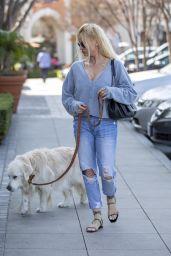 Nicollette Sheridan - Walking Her Dog in Calabasas 02/25/2020