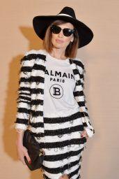 Nieves Alvarez – Balmain Show at Paris Fashion Week 02/28/2020