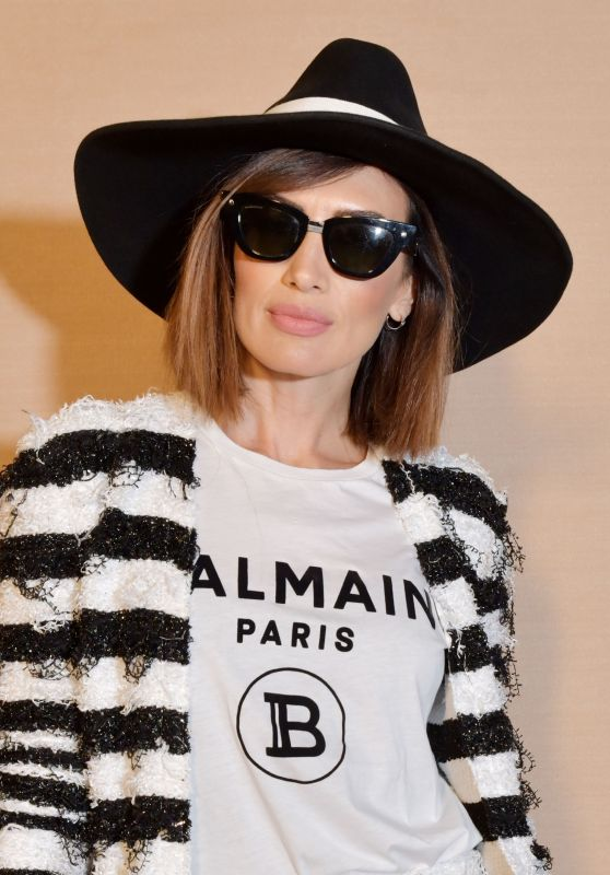 Nieves Alvarez – Balmain Show at Paris Fashion Week 02/28/2020
