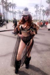 Phoebe Price - Photoshoot in Venice Beach 01/30/2020