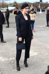 Rachel Brosnahan - Arrives at the Dior Show in Paris 02/25/2020