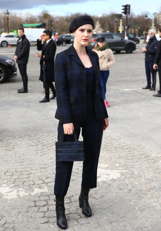 Rachel Brosnahan - Arrives at the Dior Show in Paris 02/25/2020