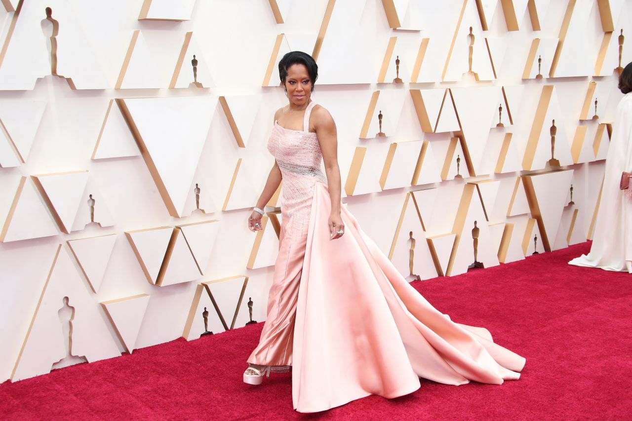 Regina King Oscars 2020 Red Carpet Celebmafia