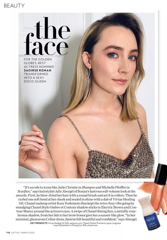 Saoirse Ronan - InStyle US March 2020 Issue