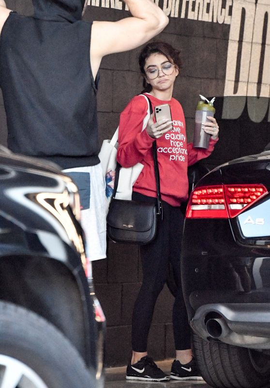Sarah Hyland - Leaving the Dogpoung Gym in West Hollywood 02/14/2020