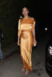 Shanina Shaik – Arriving at the WME Pre-Oscars Party in Hollywood 02/07/2020