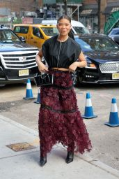 Storm Reid – Arriving at the Longchamp Fashion Show in NY 02/08/2020