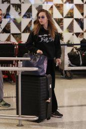 Suki Waterhouse in Travel Outfit - LAX in LA 02/17/2020