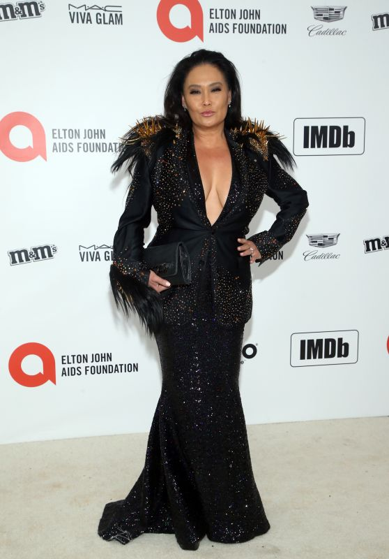 Tia Carrere – Elton John AIDS Foundation Oscar 2020 Viewing Party
