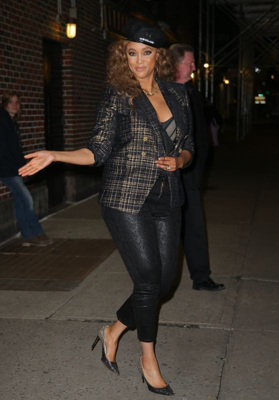 Tyra Banks - Leaving The Late Show With Stephen Colbert in NYC 02/24/2020