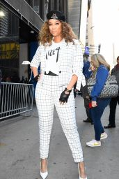 Tyra Banks - Outside GMA in NYC 02/24/2020