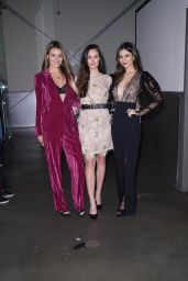 Victoria Justice and Madison Reed – Backstage at the Pamela Roland Fashion Show in NYC 02/07/2020
