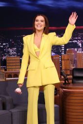 Zoey Deutch - The Tonight Show Starring Jimmy Fallon in NYC 02/14/2020