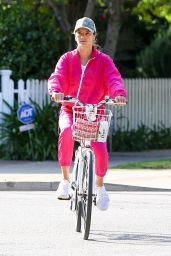Alessandra Ambrosio - Bikes the Streets of Santa Monica 03/19/2020