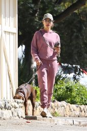 Alessandra Ambrosio - Hiking With Her Dog in Pacific Palisades 03/18/2020