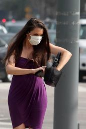 Alicia Arden Wearing a Medical Mask - West Los Angeles 03/06/2020