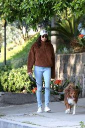 Aubry Plaza and Jeff Baena Walks Their Dogs 03/26/2020