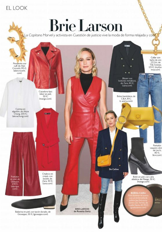Brie Larson - InStyle Spain April 2020 Issue