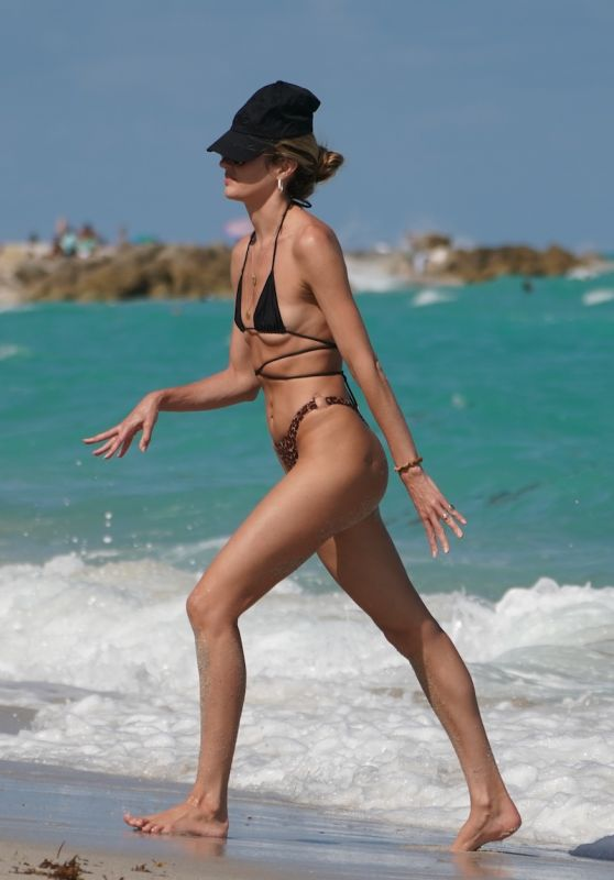 Candice Swanepoel in a Bikini on the Beach in Miami 03/18/2020
